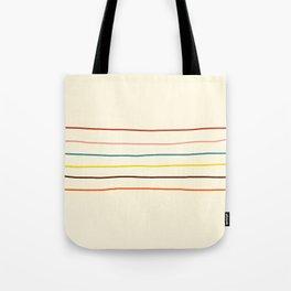Abstract Retro Stripes #2 Tote Bag