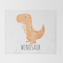 Winosaur | White Wine Throw Blanket