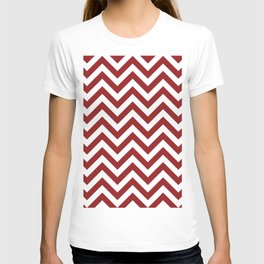 Sangria Red Chevrons Pattern T-shirt