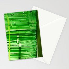 Green Rain  Stationery Cards