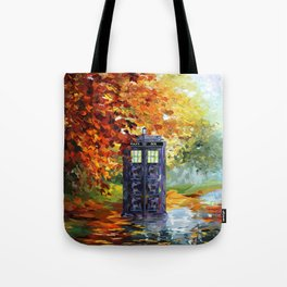 Starry Autumn Blue Phone Box Tote Bag