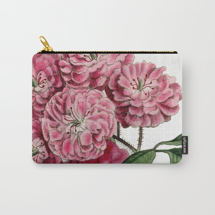 Bramble-Flowered Rose / W. Curtis 1857 Carry-All Pouch