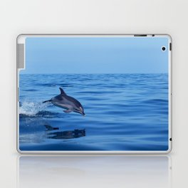 Spotted dolphin jumping in the Atlantic ocean Laptop & iPad Skin