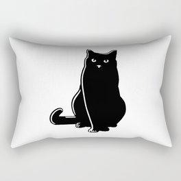 Cat Black Silhouette Pet Animal Cool Style Rectangular Pillow