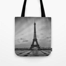 Eiffel Tower at Sunrise | Monochrome Tote Bag