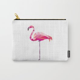 Geometric Flamingo Carry-All Pouch