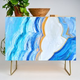 Blue and gold agate Credenza