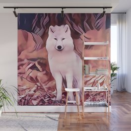 The Highland Wolf Cub Wall Mural