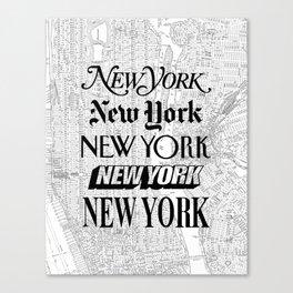 New York City black and white New York poster I love heart NYC Design black-white home wall decor Canvas Print