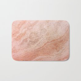 Polished Rose Gold Marble Bath Mat