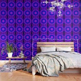 Navy Blue & Fuchsia Mandala Wallpaper