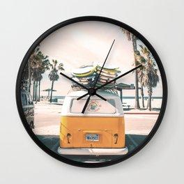 Surf Van Venice Beach California Wall Clock