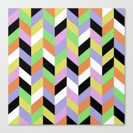 Stacked Colour Canvas Print