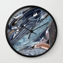 Whales Wall Clock