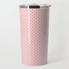Hedgehog Forest Friends All-Over Repeat Pattern on Baby Pink Travel Mug