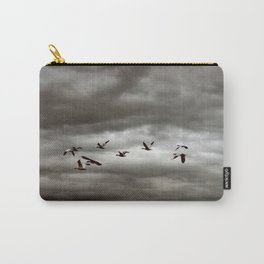 October Storm, Headed Home (Snow Geese) Carry-All Pouch
