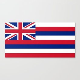 Hawaiian Flag, Official color & scale Canvas Print