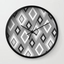 Diamond pattern - monochrome Wall Clock