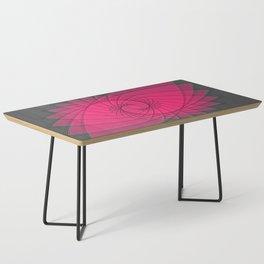 hypnotized - fluid geometrical eye shape Coffee Table