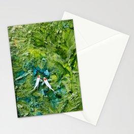 Goldfish on colorful background Stationery Cards
