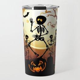 Skeletons Macabre Dance Travel Mug
