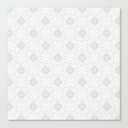 delicate lace - grey on white Canvas Print