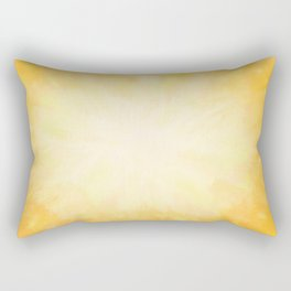 Golden Sunburst Rectangular Pillow