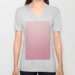 ROSE PETALS - Minimal Plain Soft Mood Color Blend Prints Unisex V-Neck