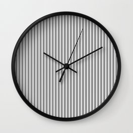 Trendy French Black and White Mattress Ticking Double Stripes Wall Clock