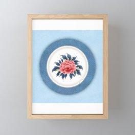 Korea traditional flower art moran3 Framed Mini Art Print