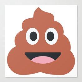 Happy Poo Emoji Canvas Print
