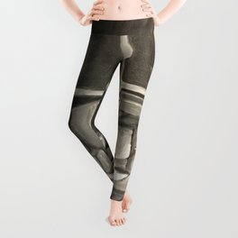 As Time Passes in Black and White Leggings