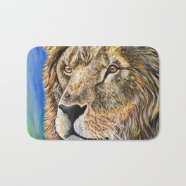 Portrait of a Lion Bath Mat