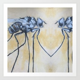 Fly On the Mirror Art Print