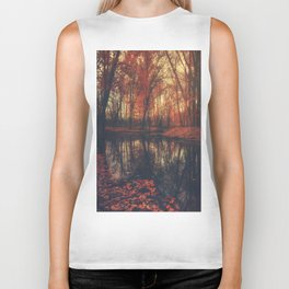 Where are you? Autumn Fall - Autumnal forest Biker Tank