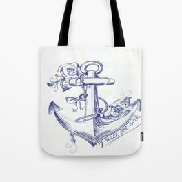 I Will Not Sink Rose Anchor Tote Bag