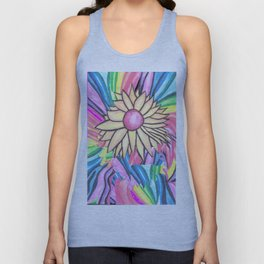 Rainbow Flower Unisex Tank Top