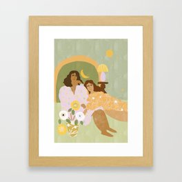 Violet Lamp Framed Art Print