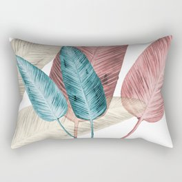 Watercolor banana leaves Rectangular Pillow