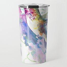 Hummingbird and Soft Purple Flowers Travel Mug