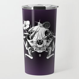 The Skull the Flowers and the Snail Travel Mug