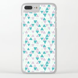 Geometrica poppy Clear iPhone Case