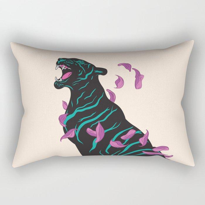 Black tiger Rectangular Pillow