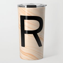 Scrabble Letter R - Large Scrabble Tiles Travel Mug