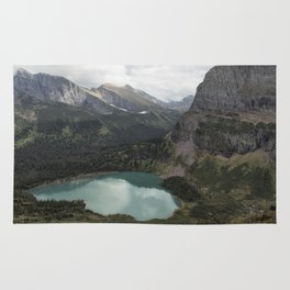 Grinnell Lake from the Trail No. 2 - Glacier NP Rug