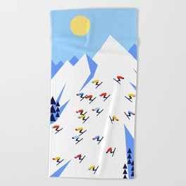 THE MOUNTAINS. PERFECT DAY! Beach Towel