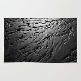 Black and white beach patterns Rug