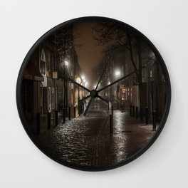 Foggy night in Salem Wall Clock