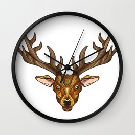 Deer Park- MI_Brown Wall Clock