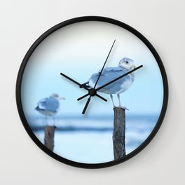 Seagulls Sunset Wall Clock